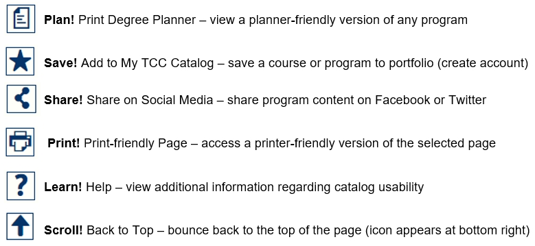 Catalog Helpful Tips: Plan, Save, Share, Print, Learn, and Scroll